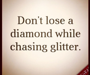 quote, diamond, and glitter image