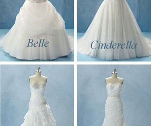 wedding, disney, and dress image