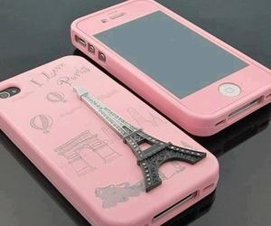 pink, paris, and iphone image