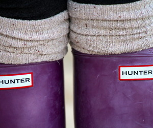 hunter and shoes image