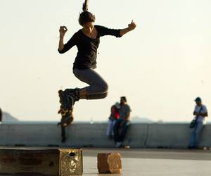 awesome, jumping, and skate image