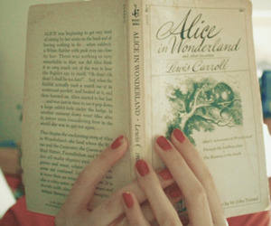 book, alice in wonderland, and nails image