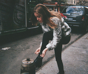 girl, vintage, and street image