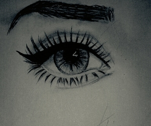 beauty, draw, and eye image