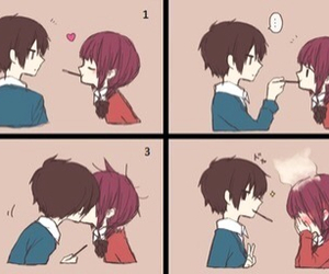 cute, kiss, and anime image