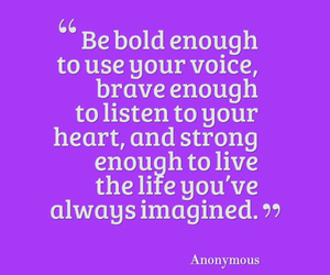 brave, girl, and quote image