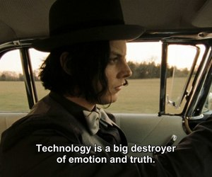 jack white, quotes, and technology image