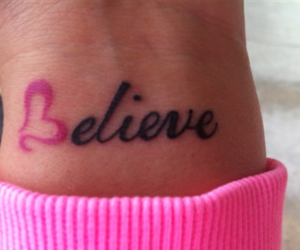 believe, heart, and girls tattoo image
