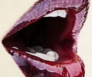lips, red, and mouth image