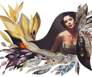 Collage and Elizabeth Taylor image