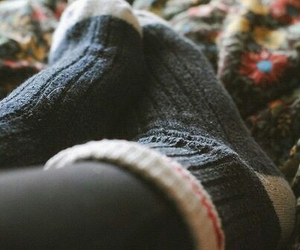 socks, autumn, and cozy image