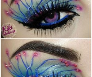 beauty, colorful, and fantasy makeup image