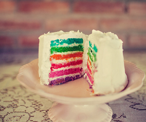 cake, colorful, and rainbow image