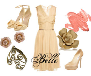 beauty and the beast, belle, and dress image