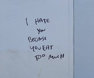 hate and eat image