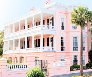 pink, house, and luxury image