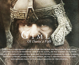 lord of the rings and gimli image