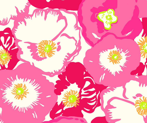 flowers, lily, and pattern image