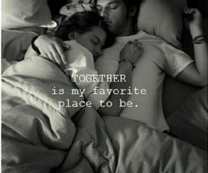 bed, hug, and in love image