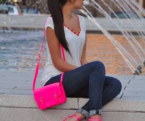pink, style, and bag image