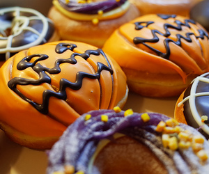 food, Halloween, and donuts image