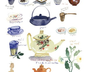 tea, illustration, and teapot image