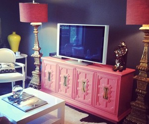 pink, interior, and room image