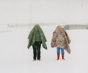 snow, vintage, and winter image