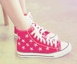 shoes, stars, and converse image