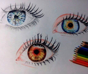 eyes, cool, and drawing image