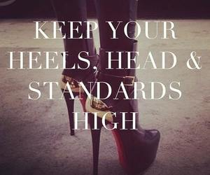 heels, quote, and high image