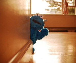 cookie monster and blue image