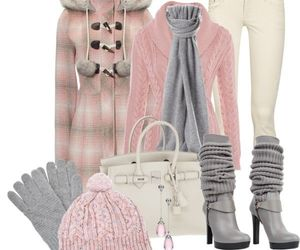 winter, cute, and pink image