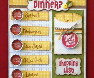 board, dinner, and menu image