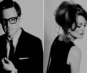 Colin Firth, actor, and glasses image
