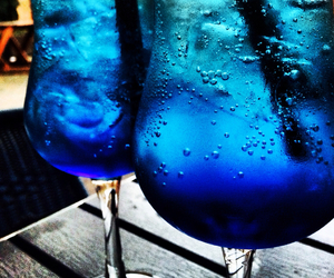 blue, cocktail, and drinks image