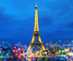 france, paris, and lights image
