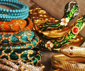 snake, bracelet, and jewelry image