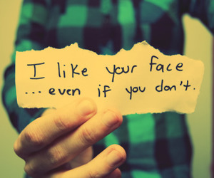 face, quote, and like image