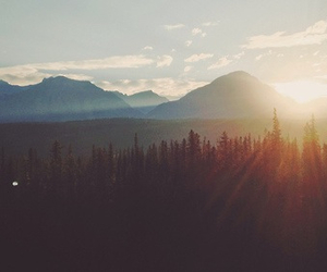 nature, mountains, and sun image