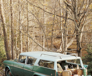 bunny, Station Wagon, and teal image