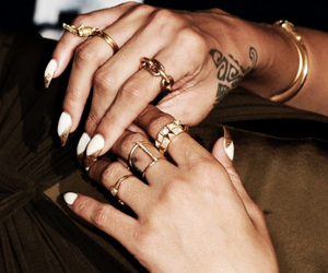 hands, rings, and Tattoos image