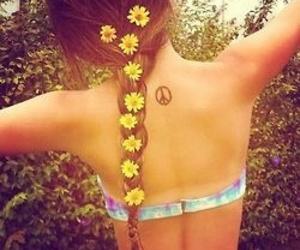 bikini, fashion, and flowers image