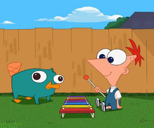 perry, phineas, and baby image