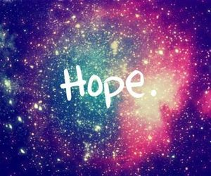 hope, galaxy, and stars image