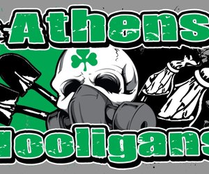 football, hooligans, and Athens image