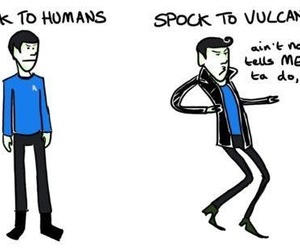 funny, spock, and startrek image