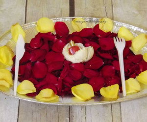 flower, heart, and meal image