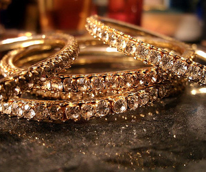 diamond, bracelet, and gold image