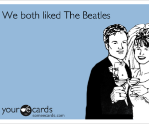 beatles, the beatles, and ecards image